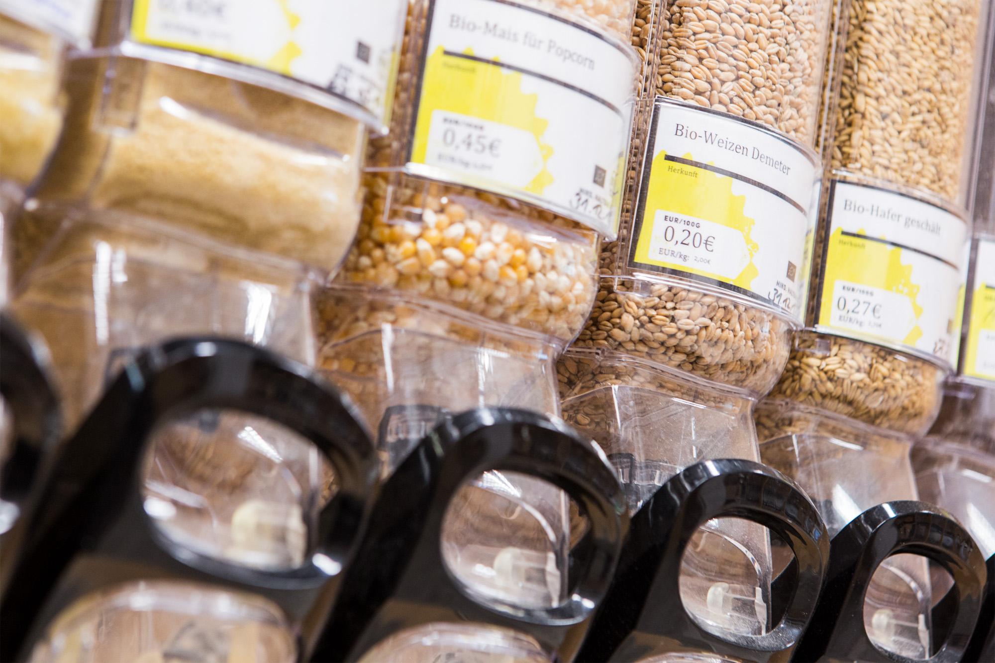 Unverpackt HL Display Bulk zum Abfüllen mit Demeter Mais