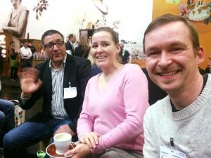 Majid, Heike und Stephan